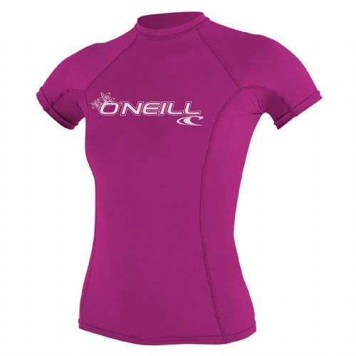 O'NEILL WOMENS RASH VEST.SKINS PINK UPF50+ SUN PROTECTION T SHIRT TOP 9S 48/172